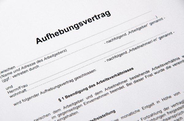 aufhebungsvertrag alles wichtige inkl vorlage vorlage formularecom - Aufhebungsvertrag Auf Wunsch Des Arbeitnehmers Muster